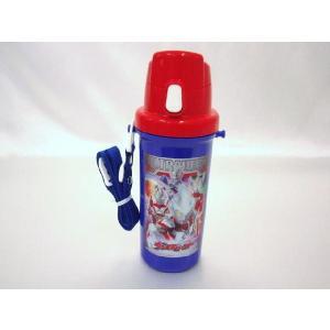 【特価20%OFF!】ウルトラヒーロー(ギンガ入り柄) 直飲みプラワンタッチボトル toy-time