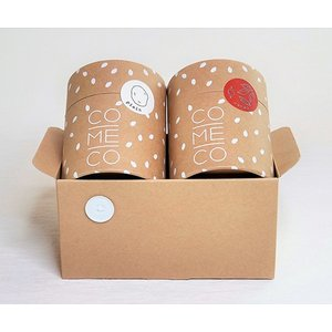 税別価格:1,400円 内容量:米粉クッキーカカオ味×1、米粉クッキープレーン味×1 賞味期限:常温...
