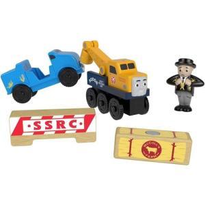 きかんしゃトーマス 木製レールシリーズ ブッチのロードレスキュー GGH29 木のおもちゃ 木製おもちゃ 木製玩具 知育玩具 子供用 幼児 1歳〜 贈り物 積木 マテル|toylandclover