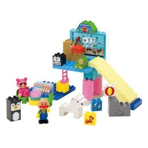 BlockLabo ブロックラボ アンパンマン キラキラこおりの水族館ブロックセット ベビー向けおもちゃ 女の子プレゼント 男の子プレゼント バンダイ|toylandclover