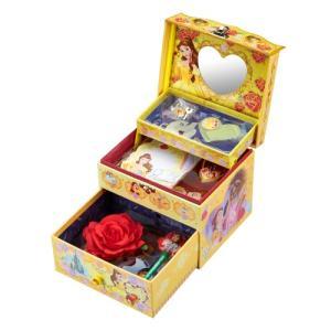 ひみつのラブリーボックス DX 美女と野獣 ベル ディズニー ジュエリーボックス サンスター文具 女の子 プレゼント 誕生日 プレゼント|toylandclover