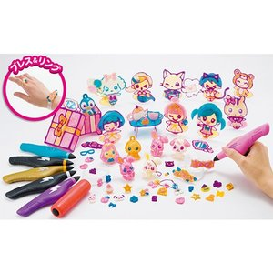 3Dドリームアーツペン キラメキアクセDXセット(6本ペン)  ガールズ クラフト 立体 3D ペン 女の子 プレゼント 誕生日 プレゼント メガハウス|toylandclover|02