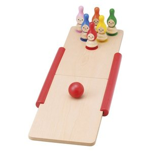 わなげ&ボウリングセット TY-0402 友愛玩具 木のおもちゃ 木製おもちゃ 木製玩具 知育玩具 子供用 幼児 3歳 4歳 5歳 贈り物 内祝い 贈答品 積木 送料無料|toylandclover