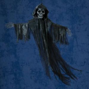 ハロウィン装飾 ハンギングリーパーM ブラック 死神 HW-1490BK  ハンギングデコレーション ハロウィン飾り ゴースト スカル ハロウィン 装飾 仮装 友愛玩具|toylandclover