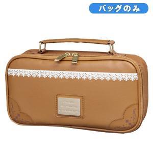 裁縫バッグ キャメルブラウン 女の子に人気のかわいい 裁縫箱 ソーイングボックス toyo-kyozai