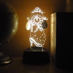 アクセサリースタンド メガネスタンド LEDライト シンデレラ  ピアス掛け オシャレ 音感センサー 電池式 USB ベッドサイド アクリスタ 透明 プレゼント 95383|toyocase-store|04