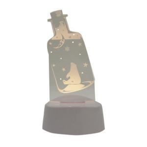 アクセサリースタンド ピアス掛け メガネスタンド LEDライト シロクマ 雪の結晶 音感センサー 電池式 USB ベッドサイド アクリスタ プレゼント 96083 toyocase-store 03