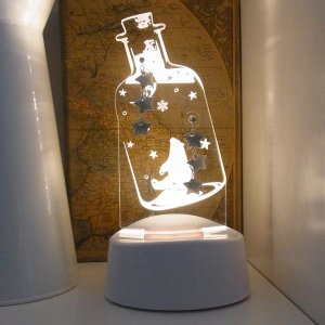 アクセサリースタンド ピアス掛け メガネスタンド LEDライト シロクマ 雪の結晶 音感センサー 電池式 USB ベッドサイド アクリスタ プレゼント 96083 toyocase-store 05