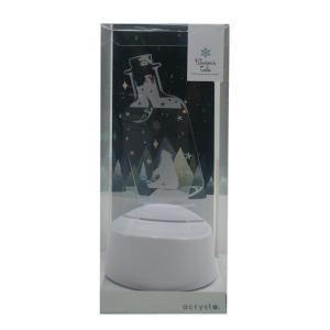 アクセサリースタンド ピアス掛け メガネスタンド LEDライト シロクマ 雪の結晶 音感センサー 電池式 USB ベッドサイド アクリスタ プレゼント 96083 toyocase-store 09