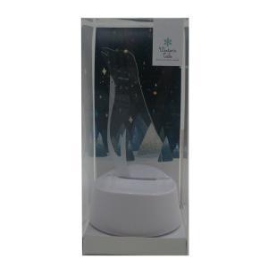アクセサリースタンド LEDライト ペンギン アクセサリー収納  ピアス掛け 音感センサー 電池式 USB ベッドサイド アクリスタ プレゼント 96113|toyocase-store|09