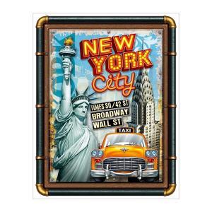アメリカテイスト雑貨 ニューヨークシティ 音感センサー付きLEDアメリカンサイン おしゃれな間接照明 メーカー直販 94362|toyocase-store