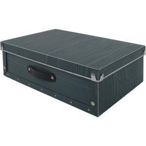 収納ボックス 小物 衣類 収納ケース ベッド下 折りたたみ 蓋つき ポリプロピレン製 アンティークスタイルモジュールボックス グレー|toyocase-store