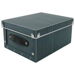 収納ボックス 小物 衣類 収納ケース ベッド下 折りたたみ 蓋つき ポリプロピレン製 アンティークスタイルモジュールボックス グレー 浅型|toyocase-store
