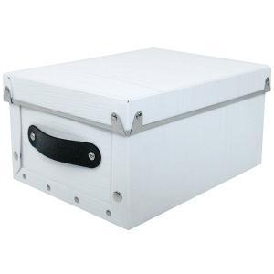 収納ボックス 小物 衣類 収納ケース ベッド下 折りたたみ 蓋つき ポリプロピレン製 アンティークスタイルモジュールボックス ホワイト 浅型|toyocase-store