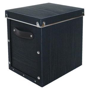 収納ボックス 小物 衣類 収納ケース ベッド下 折りたたみ 蓋つき ポリプロピレン製 アンティークスタイルモジュールボックス ブラック 深型|toyocase-store