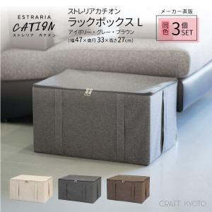 収納ケース ESTRARIA ストレリアカチオン ラックボックス Lサイズ 同色3個セット 全3色 toyocase-store