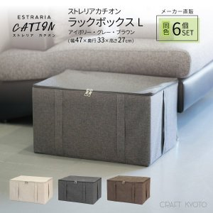収納ケース ESTRARIA ストレリアカチオン ラックボックス Lサイズ 同色6個セット 全3色 toyocase-store