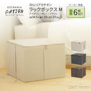 収納ケース ESTRARIA ストレリアカチオン ラックボックス Mサイズ 同色6個セット 全3色 toyocase-store