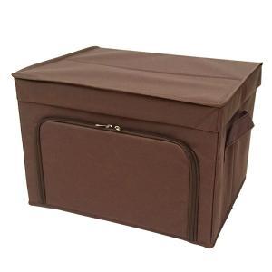 フラップボックス2 棚上収納 衣類収納  ラック収納 前開き収納ボックス Mサイズ ダークブラウン メーカー直販 toyocase-store