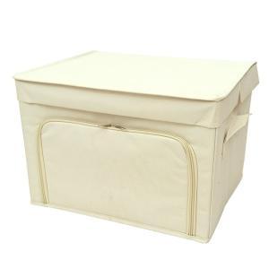 フラップボックス2 棚上収納 ラック収納 衣類収納 前開き収納ボックス Mサイズ アイボリー メーカー直販|toyocase-store
