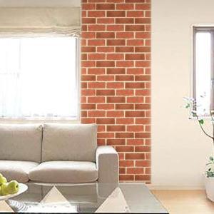 ウォールデコレーション はがせる シールタイプ 簡単 プチリフォーム 壁紙 KABEDECO カベデコ オールドレンガ 2.5m メーカー直販|toyocase-store