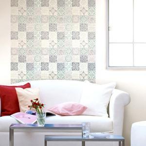 ウォールデコレーション はがせる シールタイプ 簡単 プチリフォーム 壁紙 KABEDECO カベデコ ヨーロピアンタイル 2.5m メーカー直販|toyocase-store