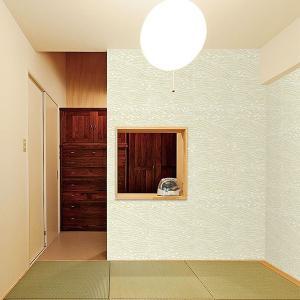 ウォールデコレーション はがせる シールタイプ 簡単 プチリフォーム 和室壁 壁紙 KABEDECO カベデコ 枯山水 2.5m メーカー直販|toyocase-store