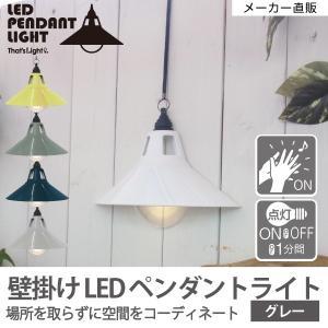 ウォールライト 壁掛け灯 LEDライト 音感センサー 電池 LEDペンダントライト2 グレー 96489|toyocase-store