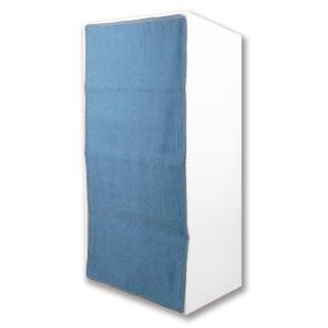 3段カラーボックスカーテン 3段カラーボックスカーテン目隠しカーテン デニム調ライトブルー L.S.M.デニム メーカー直販|toyocase-store