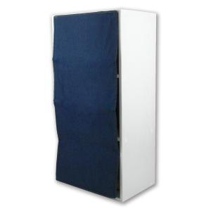 3段カラーボックスカーテン 3段カラーボックスカーテン目隠しカーテン デニム調ネイビー L.S.M.デニム メーカー直販|toyocase-store
