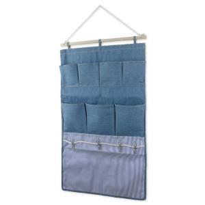 クリップウォールポケット 7ポケット ライトブルー L.S.M.デニム メーカー直販|toyocase-store