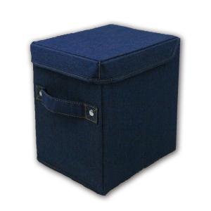 L.S.M.デニム ハーフボックス ネイビーカラーボックス 1段 半分サイズ  メーカー直販|toyocase-store