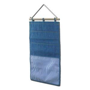マガジンウォールポケット 3ポケット ライトブルー L.S.M.デニム メーカー直販|toyocase-store