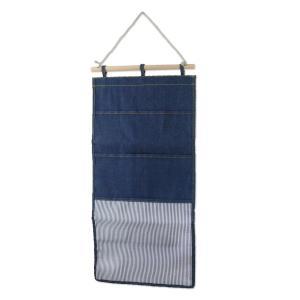 マガジンウォールポケット 3ポケット ネイビー L.S.M.デニム メーカー直販|toyocase-store