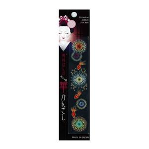 和雑貨 スマホ用デコシール 蒔絵シール 舞妓はんの華かんざし 7月 花火 メーカー直販|toyocase-store