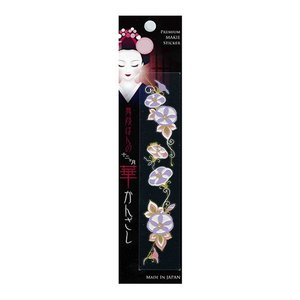 和雑貨 スマホ用デコシール 蒔絵シール 舞妓はんの華かんざし 8月 朝顔 メーカー直販|toyocase-store