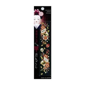 和雑貨 スマホ用デコシール 蒔絵シール 舞妓はんの華かんざし 12月 もち花 メーカー直販|toyocase-store