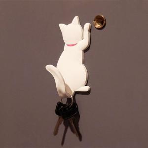 猫 ネコ ネコグッズ マグネットフック マグネット フック キャットテイル MAGNET HOOK Cattail シロ メーカー直販|toyocase-store