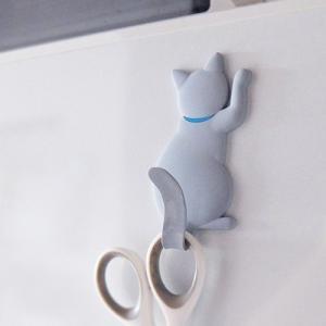 猫 ネコ ネコグッズ マグネットフック マグネット フック キャットテイル MAGNET HOOK Cattail グレー メーカー直販|toyocase-store
