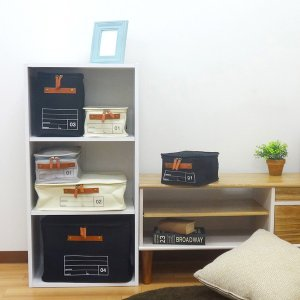 蓋つき収納 カラーボックス 小物収納 文具品整理 キャンパス生地 シンプル グレー インテリア収納 モック キャンバスストレージ01 メーカー直販|toyocase-store|06