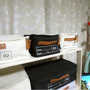 蓋つき収納 カラーボックス 小物収納 文具品整理 キャンパス生地 シンプル グレー インテリア収納 モック キャンバスストレージ01 メーカー直販|toyocase-store|07