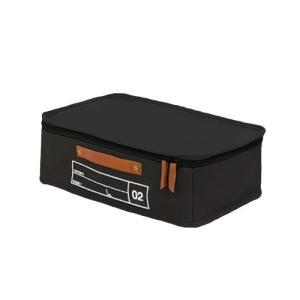 蓋つき収納 カラーボックス 横長 ブラック キャリーケース 仕分け用 インテリア収納 キャンバス生地 本革 モック キャンバスストレージ02 メーカー直販|toyocase-store|04