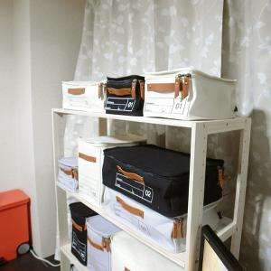 蓋つき収納 カラーボックス 横長 ブラック キャリーケース 仕分け用 インテリア収納 キャンバス生地 本革 モック キャンバスストレージ02 メーカー直販|toyocase-store|07