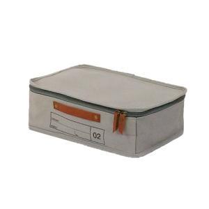 蓋つき収納 カラーボックス 横長 グレー キャリーケース 仕分け用 インテリア収納 キャンバス生地 本革 モック キャンバスストレージ02 メーカー直販|toyocase-store|04