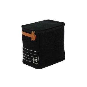 蓋つき収納  縦長型 カラーボックス DVDの収納 食品ストック キャンパス生地 シンプル ブラック インテリア収納 モック キャンバスストレージ03 メーカー直販|toyocase-store|03