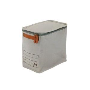 蓋つき収納  縦長型 カラーボックス DVDの収納 食品ストック キャンパス生地 シンプル グレー インテリア収納 モック キャンバスストレージ03 メーカー直販 toyocase-store 03