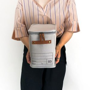 蓋つき収納  縦長型 カラーボックス DVDの収納 食品ストック キャンパス生地 シンプル グレー インテリア収納 モック キャンバスストレージ03 メーカー直販 toyocase-store 04