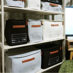 蓋つき収納  縦長型 カラーボックス DVDの収納 食品ストック キャンパス生地 シンプル グレー インテリア収納 モック キャンバスストレージ03 メーカー直販 toyocase-store 06