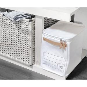 蓋つき収納  縦長型 カラーボックス DVDの収納 食品ストック キャンパス生地 シンプル アイボリー インテリア収納 モック キャンバスストレージ03 メーカー直販 toyocase-store 05