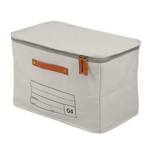 蓋つき収納  ファスナー付き カラーボックス バスタオル トイレットペーパー シンプル グレー インテリア収納 モック キャンバスストレージ04 メーカー直販|toyocase-store|05